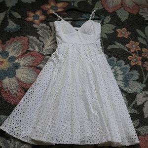 MUSE for BOSTON PROPER WHITE EYELET DRESS 6